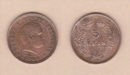 PORTUGAL  (D.Carlos I 1889-1908)  5 Reis 1.906 Bronce KM#530   MBC+/VF+   DL-10.735 - Portugal