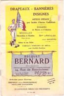 Catalogue Fabique De Drapeaux Bequet Bernard - 1925/1930 - 8pages Dont Deux Couverture Couleur, TB - Drapeaux