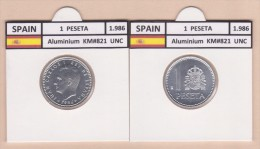 SPAIN /JUAN CARLOS I    1 PESETA  1.986  Aluminium  KM#821   UNCirculated  T-DL-9376 - 1 Peseta