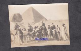 Photo Ancienne - LE CAIRE ( Egype ) - Visite Des Pyramides Et Du Sphinx - Caravane , Attelage , Ane - 1921 - Orte