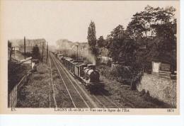 Lagny (77) Vue Sur La Ligne De L'est - Train En Circulation - Lagny Sur Marne