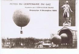 Mongolfière En Vol - Fêtes Du Centenaire Du Gaz - Aero Club De France 4 Décembre 1904 - Fesselballons