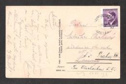 TCHEQUIE Chotebor CELKOVY POHLED + GERMAN STAMP Gelaufen Used - Tchéquie