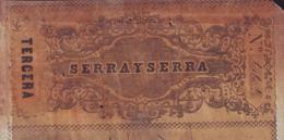 E4589 CUBA BANK CHECKS 1866 SERRA Y SERRA - Invoices & Commercial Documents