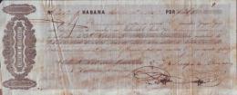 E4590 CUBA BANK CHECKS 1857 SERAPIO DE ALZUGARAY - Invoices & Commercial Documents