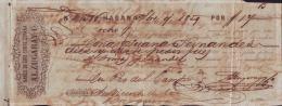 E4591 CUBA BANK CHECKS 1859 BANCO DE GIRO SOBRE ESPAÑA - Invoices & Commercial Documents