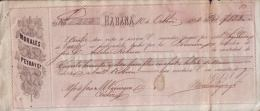 E4592 CUBA BANK CHECKS 1864 MORALES PEYRA Y Co - Invoices & Commercial Documents