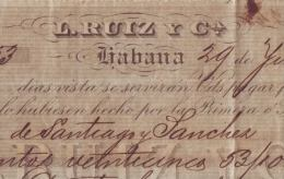 E4594 CUBA BANK CHECKS 1892 L. RUIZ Y Co - Invoices & Commercial Documents