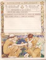 E4601 BELGIUM ILLUSTRATED TELEGRAM MOTHER & CHILDREN - Telegraph