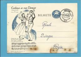 MOURA - BEJA - 20.05.1963 - AGENTE SINGER - INTEIRO POSTAL STATIONERY - CONHEÇA AS SUAS DANÇAS - TORRADINHAS - PORTUGAL - Postwaardestukken
