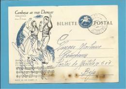 ALJUSTREL - BEJA - 08.07.1963 - AGENTE SINGER - INTEIRO POSTAL STATIONERY - CONHEÇA AS SUAS DANÇAS - PORTUGAL - Entiers Postaux