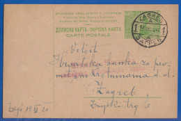 Jugoslawien; Kraljevina PC 25 Pa; 1921 Zagreb Mit Roter Stempel Hrovatska Slovenska Banka - 1919-1929 Königreich Der Serben, Kroaten & Slowenen