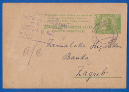 Jugoslawien; Kraljevina PC 25 Pa; 1922 Von Bos Gradiska Nach Zagreb - 1919-1929 Königreich Der Serben, Kroaten & Slowenen