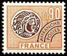 France Préoblitéré N° 142 ** Monnaie Gauloise - Le 90c Orange Et Brun - 1964-1988