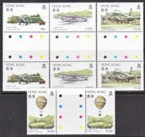 HONK KONG  423-6   **  STOPLIGHT  GUTTERS - Hong Kong (...-1997)