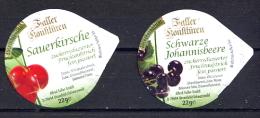 "465 - Mini Opercule (2) Confiture "" Fruit "" Pour Collection - Milchdeckel - Kaffeerahmdeckel"