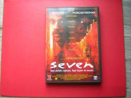 DVD  SEVEN  BRAD PITT   MORGAN FREEMAN  UN FILM DE DAVID FINCHER  SEPT PECHES CAPITAUX SEPT FACONS DE MOURIR - Policiers