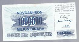 BOSNIA - 1.000.000  Dinara 1993 SC-   P-35 - Bosnië En Herzegovina