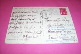 TIMBRE OBLITERATION FLAMME° 29  PONT CROIX   Le 19 09 1977   PETIT PORT DE PECHE SUR LA COTE SAUVAGE DU CAP SIZUM - Marcophilie (Lettres)