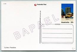 Entier Postal - Australie - Le Paradis Des Surfers (JS) (Recto-Verso)
