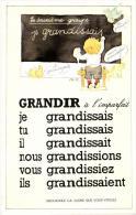 """72975 - Fantaisie   Grammaire    La Conjugaison    Le Verbe """"Grandir  """" Indicatif  Imparfait  Deuxieme Groupe - Fantasia"""