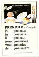 """72979   - Fantaisie   Grammaire    La Conjugaison    Le Verbe  """" Prendre """"   Indicatif  Imparfait  Troisieme Groupe - Fantasia"""