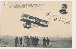 AVIATION )) Léon DELAGRANGE à Bord De Son Aéroplane N° 3 - Aviatori