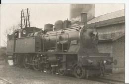 Carte Photo - Locomotive En Gros Plan - - Altri