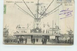 LIEGE  - Exposition Universelle 1905,Aéroplanes Captifs Maxim, Quart Vitesse, Vignette Dos Carte. - Liege