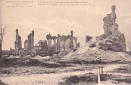 Nieuport.  -  Ruines De Nieuport ;   L´Eglise Avec La Tour, Vue Prise De La Grand'Place - Guerre 1914-18
