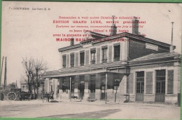76 ELBEUF - Carte-publicitaire - Maison BAILHACHE-HELOUIN - Louviers - La Gare - Elbeuf