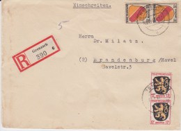 France Zone Allg Ausg Div RBf Grenzach Baden 1946 - Zona Francese