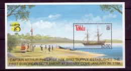 """Tuvalu Scott   799 Mint NH Souv Sheet  """"Australia '99"""" Ship - Tuvalu"""