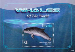 Tuvalu Whales Of The World Souvenir Sheet Mint NH - Tuvalu