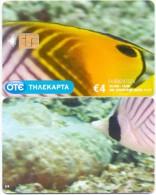 GREECE PHONECARD FISH UNDERWATER-X2199- 95000pcs-11/09-USED - Greece