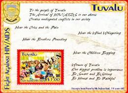 "Tuvalu Scott   952 Mint NH Fight Aids HIV ""Specimen"" Souvenir Sheet - Tuvalu"