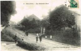 ARDENNES 08.BELVAL LA GRANDE RUE TOP CARTE - Francia