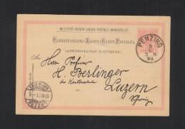 KuK GSK 1891 Penzing Nach Luzern - Ganzsachen