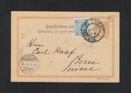 Cartolina Trieste 1899 - Ganzsachen