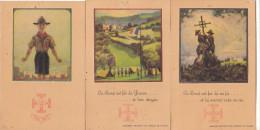 """SCOUTISME - Lot De 3 Cartes - """" Principe Des Scout De France """" Carte N°0 , N°1, N°2. ( Trous De Punaise ) - Scoutisme"""
