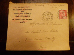 LETTRE FRANCE (x Scans)   LE CANNET DES MAURES POUR NICE   ETS  ELECTRIC LUMIFOR  1949 - Marcophilie (Lettres)