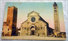 VERONA . BASILICA DI SAN ZENO COLORATA A MANO 1900 ... - Italy
