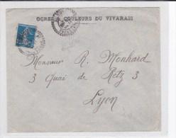 DROME - 1920 - ENVELOPPE COMMERCIALE De POET-LAVAL - FACTEUR BOITIER TYPE 1884 - Postmark Collection (Covers)