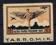 Poland: 1921 Mi. I MH/* With Label. - Luchtpost