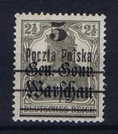 Poland: 1919 Mi 15 II MH/*, CV 100 Euro - ....-1919 Provisional Government