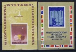 Poland: Mi  Blocks 17 + 18   MNH/**  1955 - Blokken & Velletjes