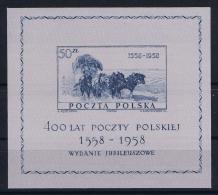 Poland: Mi  Block 22   MNH/**  1958 - Blokken & Velletjes