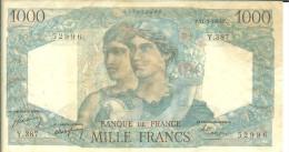 BANQUE DE FRANCE - MILLE FRANCS - MINERVE ET HERCULE - 11-3-1948 - Y 387 - 1871-1952 Gedurende De XXste In Omloop