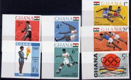 Ghana Série Complète BdF ND/imperf/B JO 64 ** - Verano 1964: Tokio