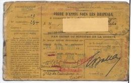 Ordre D´appel Sous Les Drapeaux  1930 - Documents
